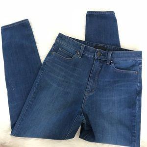 Uniqlo high rise stretch skinny jeans sz 28